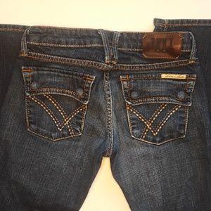 William Rast size 27 Wood Button Flare leg Spalsh